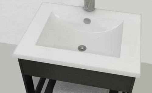 lavatorio plano loza 75cm pringles monocomando minimalista
