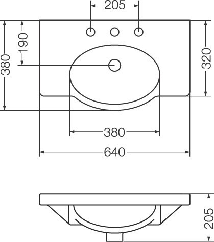 lavatorio venecia ferrum 64cm blanco l6v3j