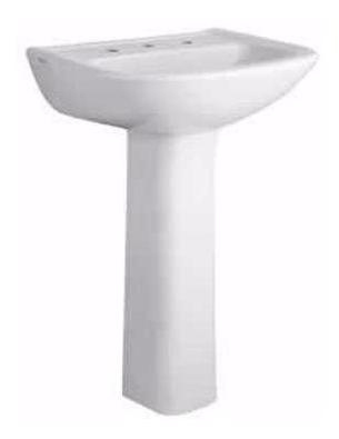 lavatorio y columna ferrum  bari blanca 3 agujeros