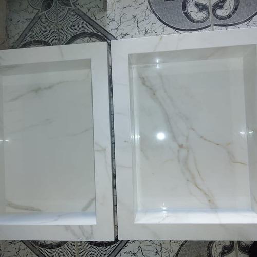 lavatórios e nincho em porcelanato (11) 96782-9648