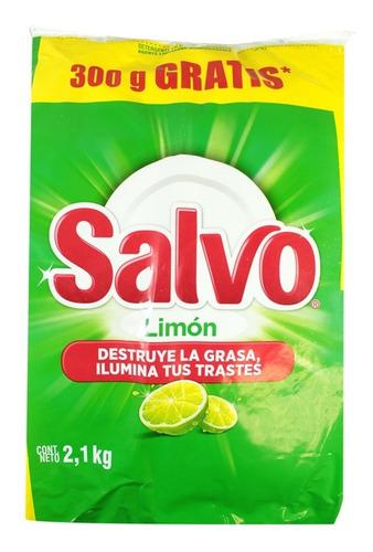 lavatrastes en polvo salvo aroma limón 2.1 kg