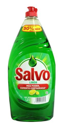 lavatrastes líquido salvo aroma limón 1.2 lt