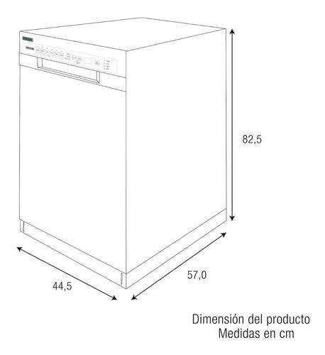 lavavajillas 8 puestos challenger - ref. dw 3908 / inox