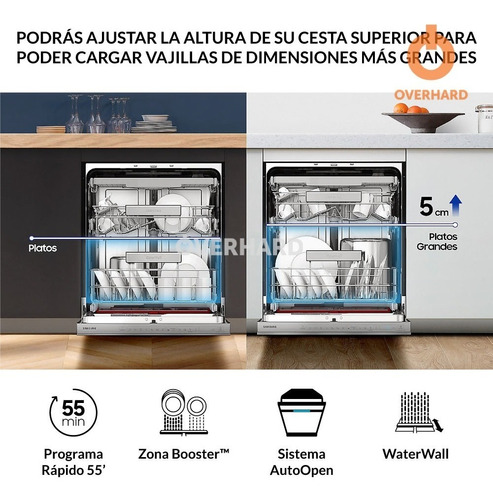 lavavajillas samsung waterwall 14 cubiertos dw60m9530f pc