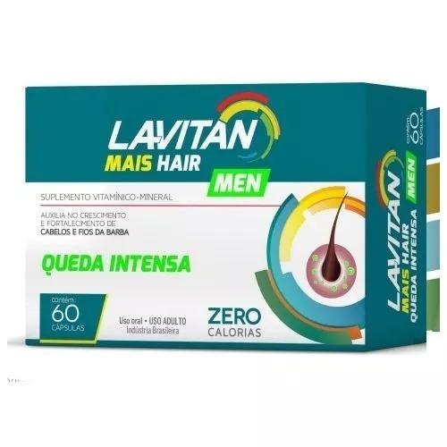 3c543c2010 Lavitan Mais Hair Men Queda Intensa Aumenta A Barba 60 Cp - R  34