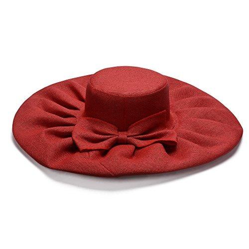 lawliet linen summer womens kentucky derby sombrero ancho su