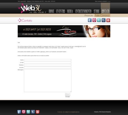 layout portal de balada