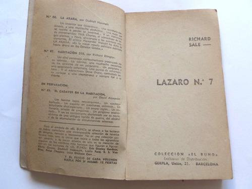 lazaro 7 richard sale novela policial crimen editorial buho
