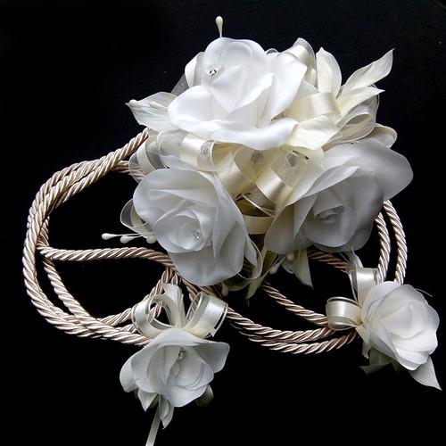 lazo de boda cordón de rosas hecho a mano