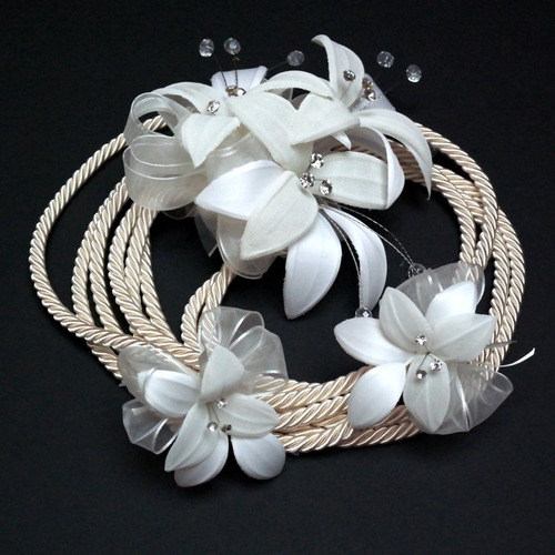 lazo de boda cordón lilis cristal