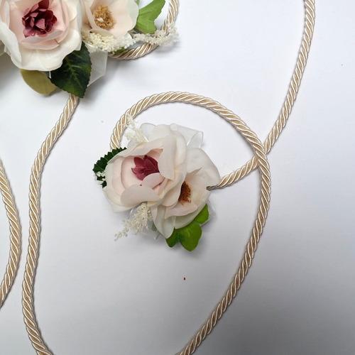 lazo de boda cordón peonias