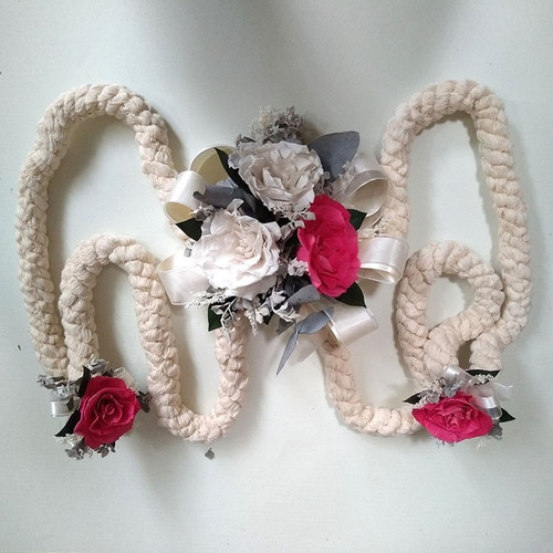lazo de boda cordón rosas rehidratadas combinadas