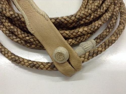 lazo de lujo trenzado cuero extra fino barriles tiento