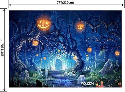 lb 7x5ft vinilo de halloween foto telón de fondo foto