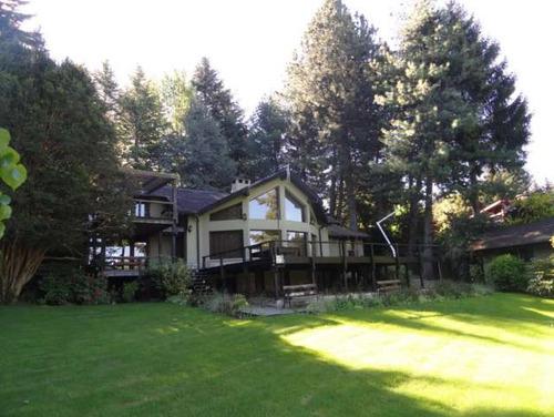 lc504 excelente casa c/ costa lago en llao~llao. 3 dormitorios