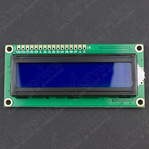 lcd 16x2 backlight azul