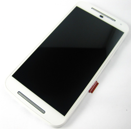 lcd display+touch +frame moto g2 xt1063 xt1064 xt1068~white