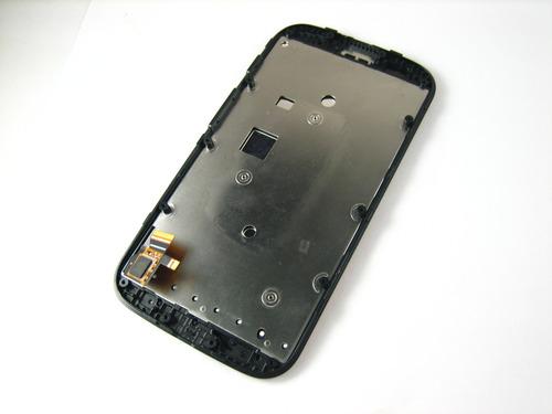 lcd display+touch +frame motorola moto e xt1021 xt1022~black