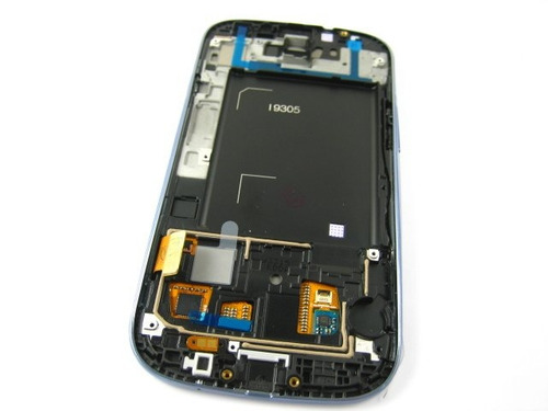 lcd display+touch +frame samsung galaxy s3 lte i9305~blue