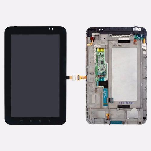 lcd display + touch + marco para samsung galaxy tab 7 p1000