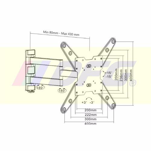 lcd doble brazo soporte led
