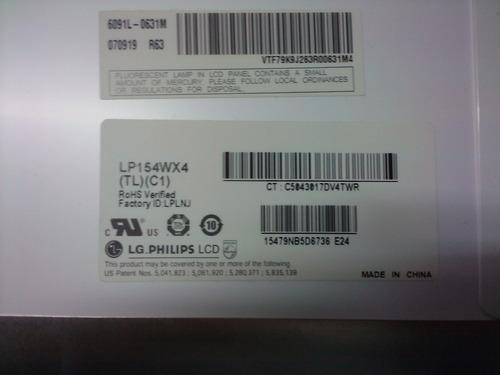 lcd hp dv6000 lg l154wx4 compatível c/outros modelos testada