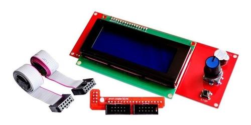 lcd impresora 3d 20*4 lector sd ramps 1.4 prusa pantalla