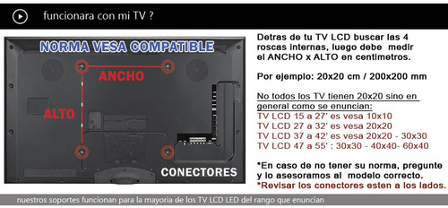 lcd led soporte