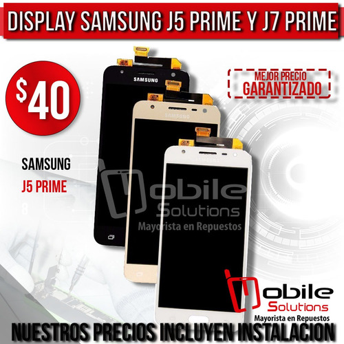 lcd pantalla display samsung j5- j7 prime instalacion gratis