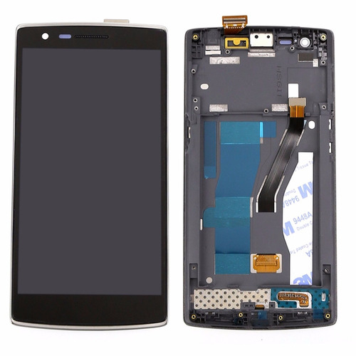 lcd pantalla original + touch + marco oneplus one 1+a0001