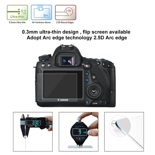lcd screen protective camara guard puluz 2.5d curved 6d