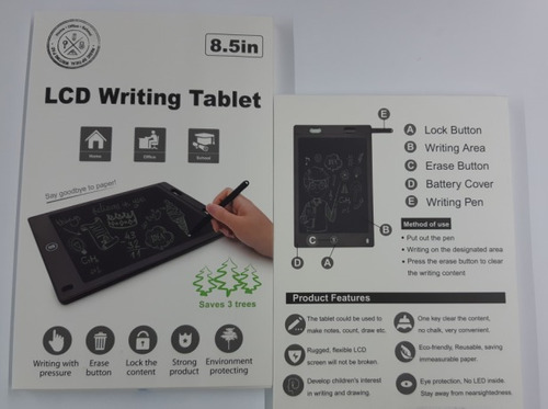 lcd writing tablet 8,5 polegadas - escreva sem gastar papel