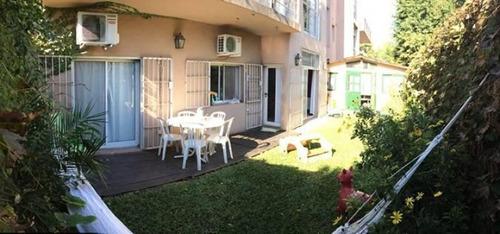 lcl. departamento de 3 ambientes con jardín en barrio privado, pilar.
