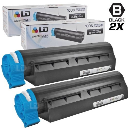 ld compatible okidata 44574701black toner cartridge for mb4