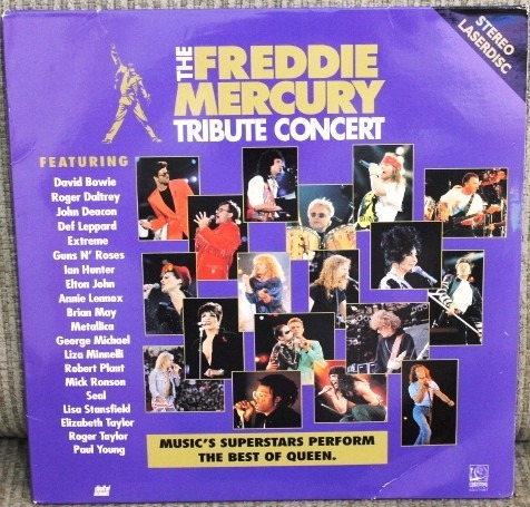 ld freddie mercury laserdisc tribute concert duplo