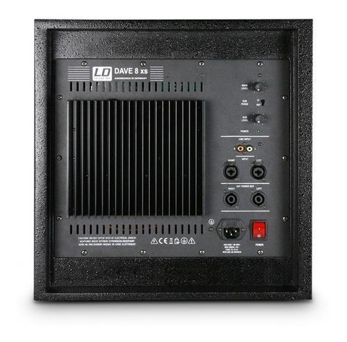 ld systems dave8xs - subwoofer 8  activo 350w satelites dj
