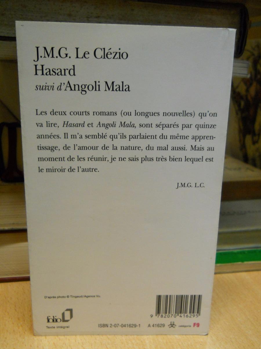 Le Clézio Hasard Suivi D Angoli Mala En Francés 26950