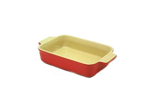 le creuset poterie rectangular cocción plato 7 -inch- por -