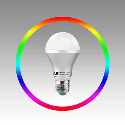 le dimmable a19 e26 bombillas led, 5w cambio de color, rgb,
