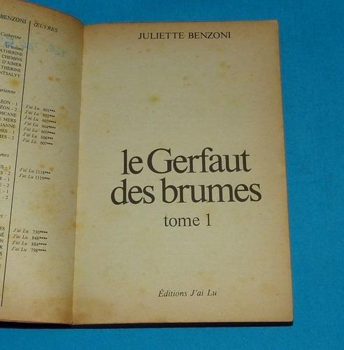 le gerfaut des brumes juliette benzoni 1 francés novela