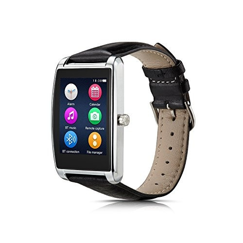 le pan 16 touchscreen smartwatch para android y ios silver l