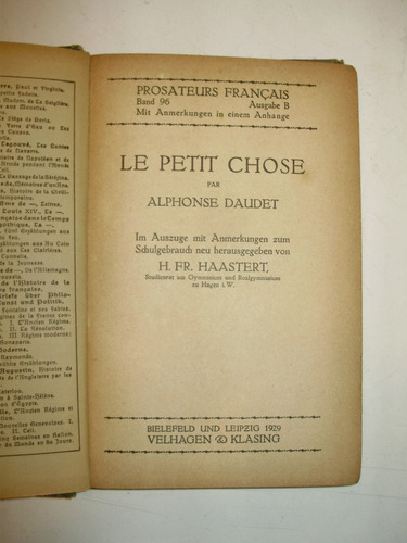 le petit chose alphonse daudet velhagen klasing 1929 frances
