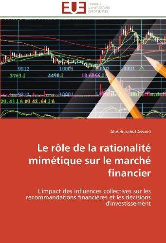 le role de la rationalite mimetique sur le marche financier