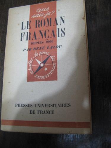 le roman français. rené lalou. francés