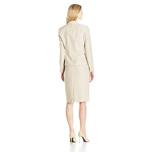 le suit traje de mujer 3 botón notch falda