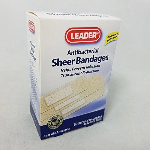 leader  tm  vendas adhesivas sheer antibacterial