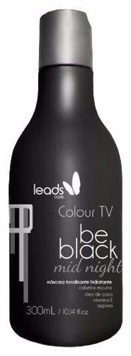 leads care máscara tonalizante colour tv be black 300ml