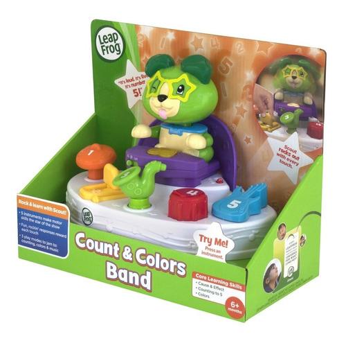 leap frog la banda de scout con números y colores