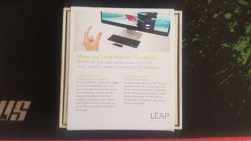 leap motion controlador de movimiento pc/mac