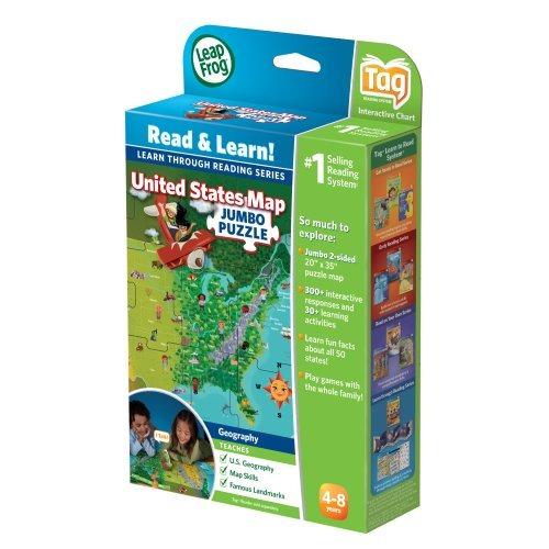 leapfrog leapreader interactive united states map puzzle fun